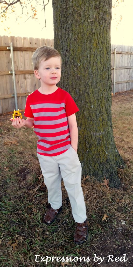 He agreed to a photo shoot as long as Bumblebee could be involved. Who was I to argue if he was willing to take pictures...and wear khakis? Which NEVER happens!