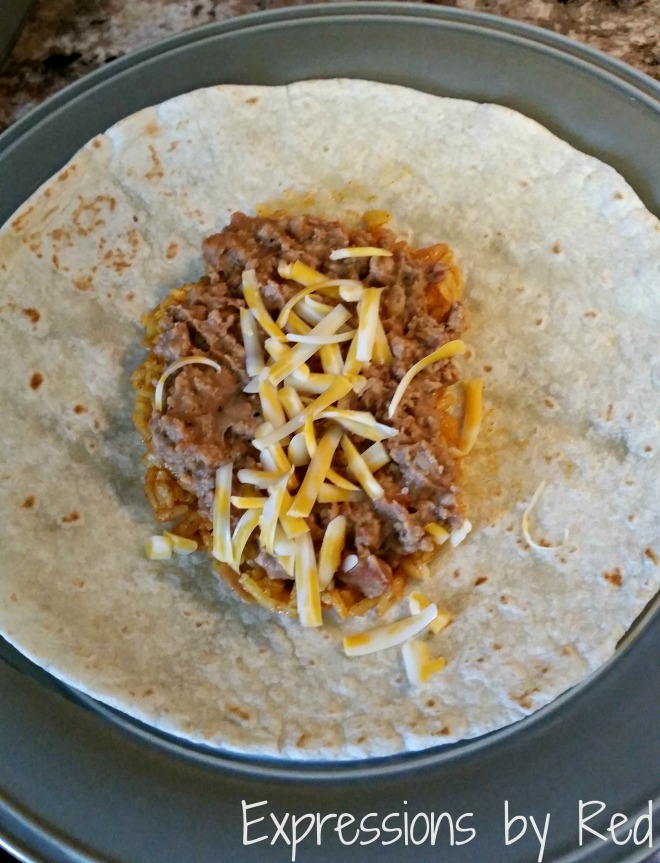fast, cheap and easy burritos cheese - expressions by red