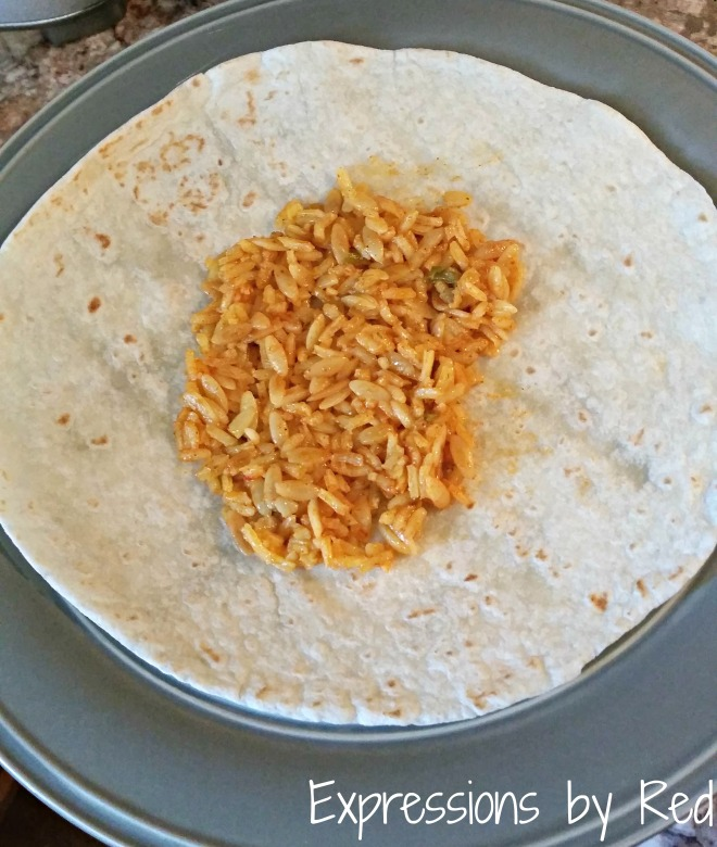 fast, cheap and easy burritos rice - expressions by red