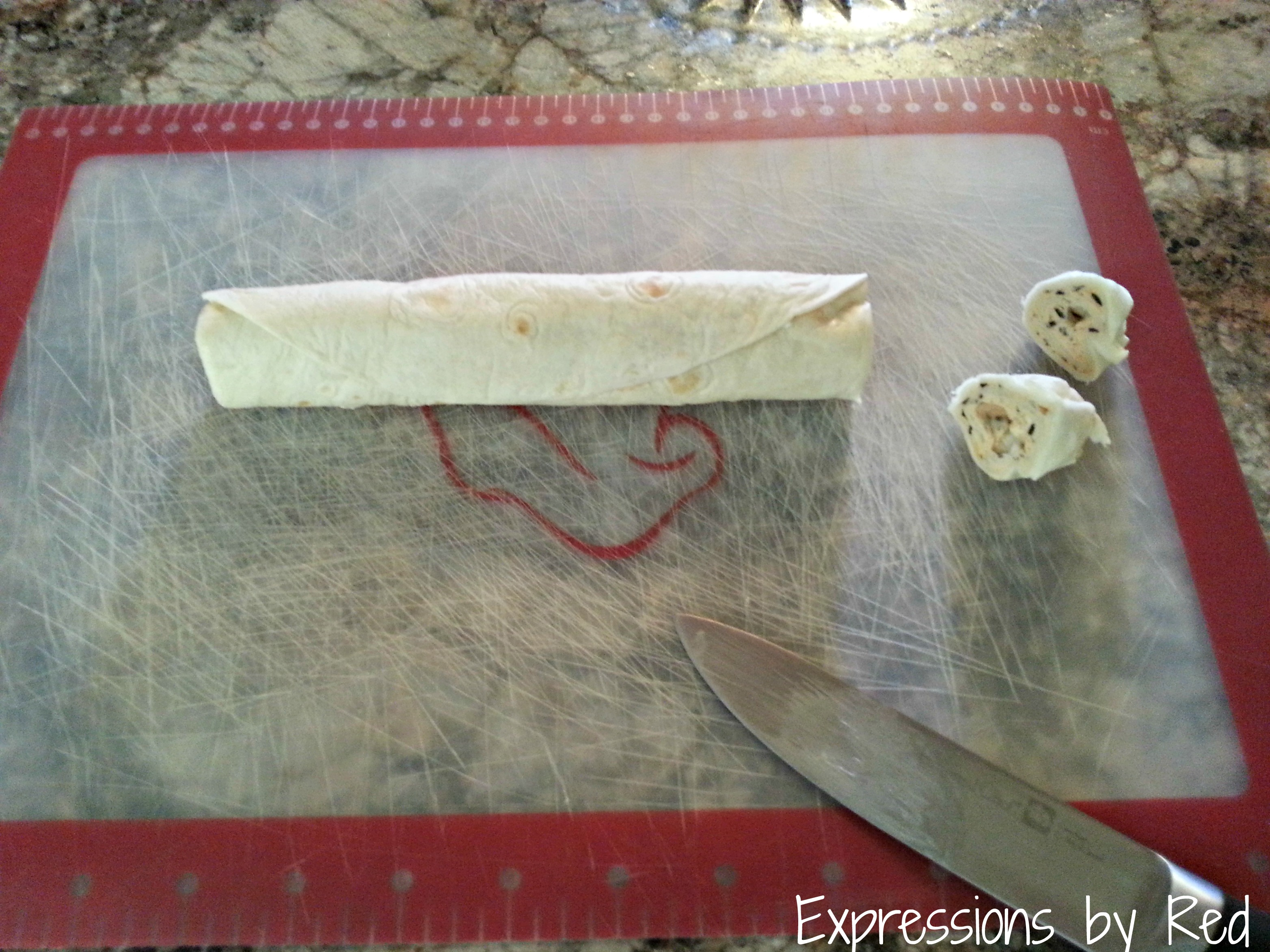 Pinwheels Recipe - removing ends