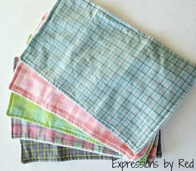 The Best and Easiest Burp Cloths EVER Tutorial - finished