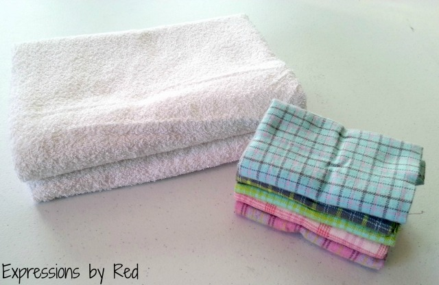 The Best and Easiest Burp Cloths EVER Tutorial - materials