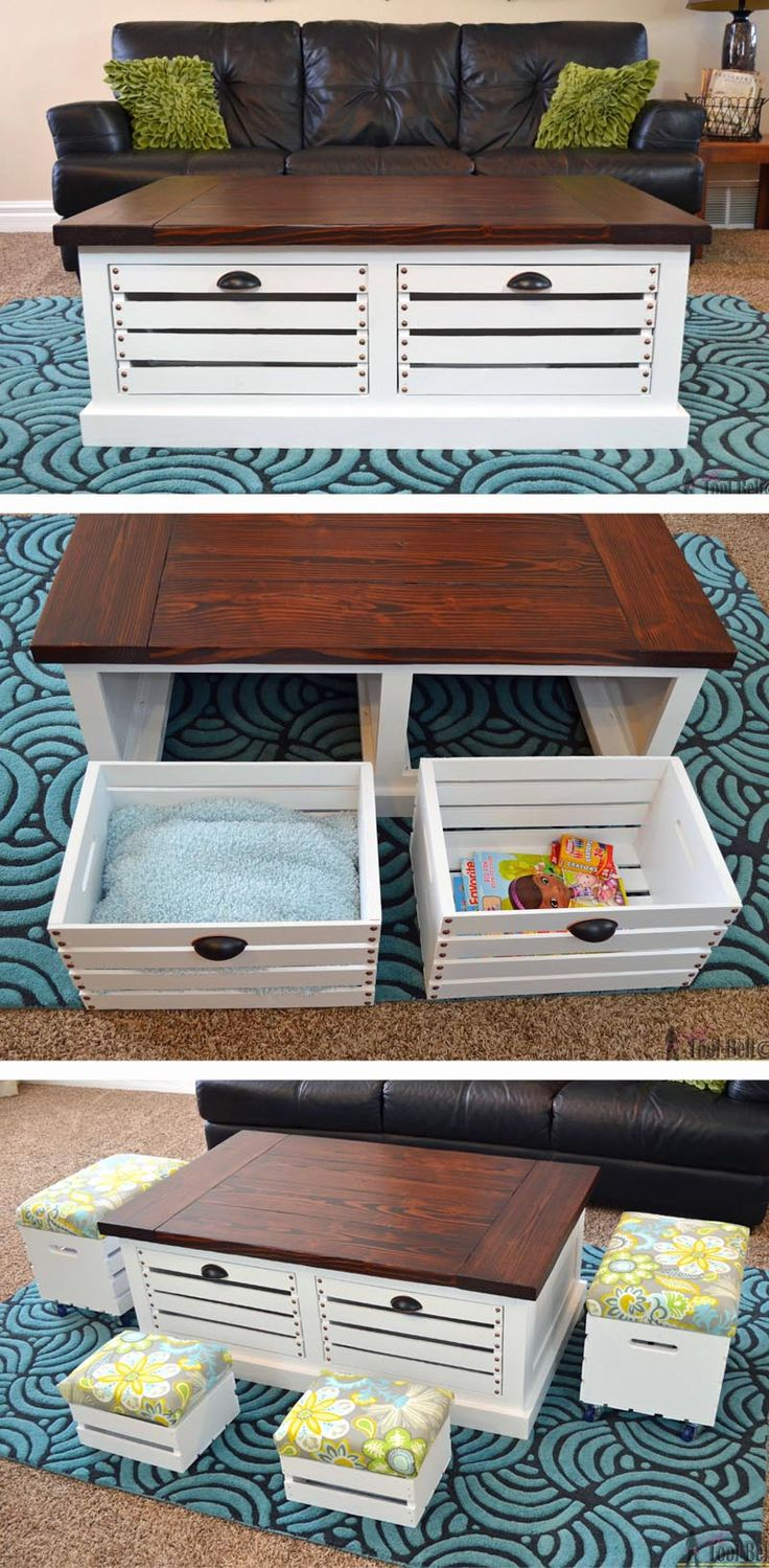 crate storage coffee table