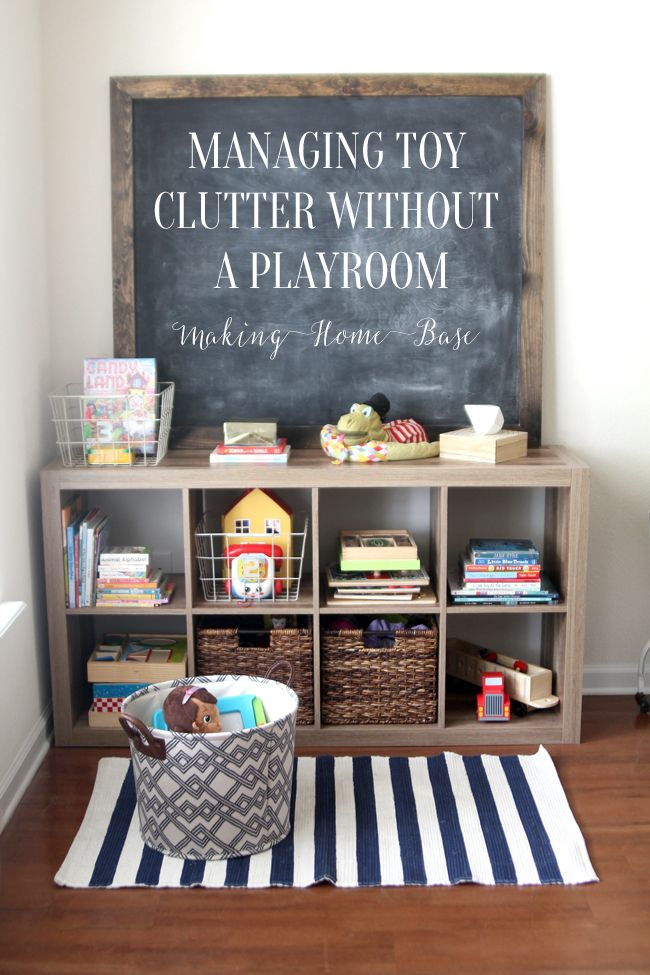 toy bookcase with baskets